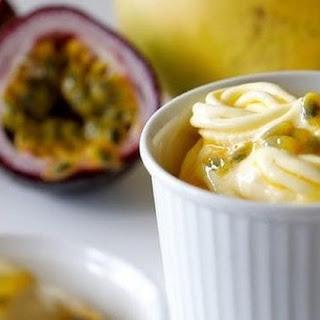 Mango Passionfruit Frozen Yoghurt Recipe