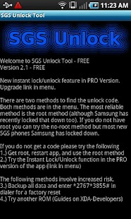 Samsung Galaxy S Unlock Tool - screenshot thumbnail