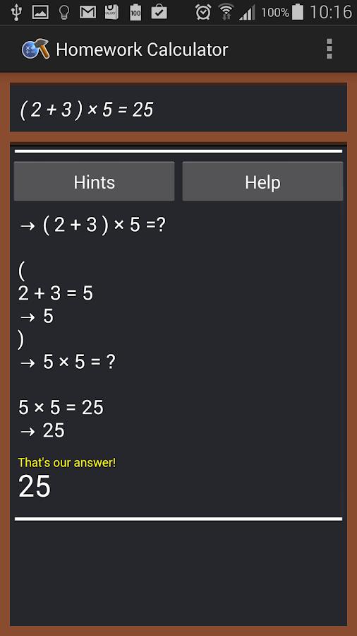 Math homework help calculator