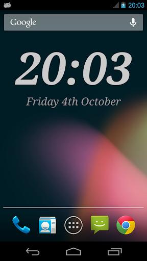 Screenshot for DIGI Clock Widget Plus in Hong Kong Play Store