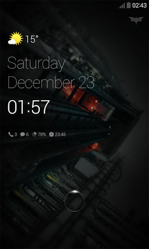 DarkNight 2 Dodol Locker Theme