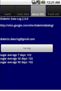 Diabetic Data Log - screenshot thumbnail
