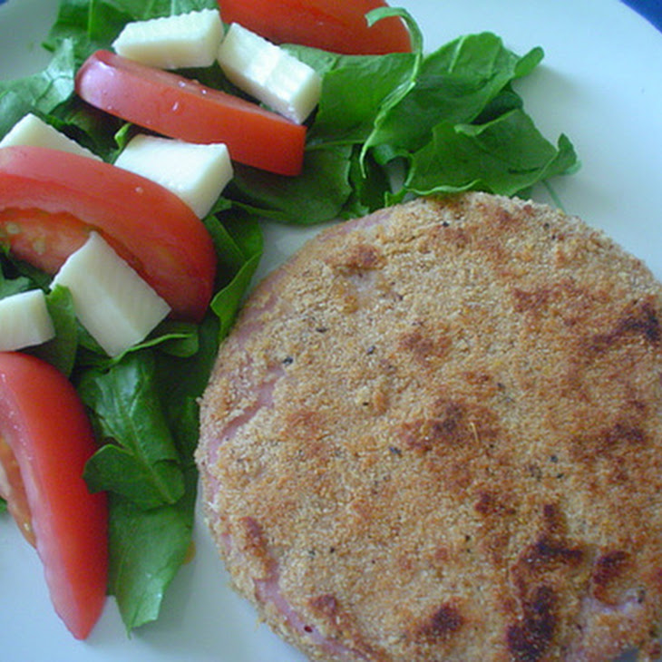 Breaded Bologna with Simple Salad Recipe