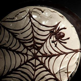 Devil'S Food Cake with Chocolate Spiderweb Recipe