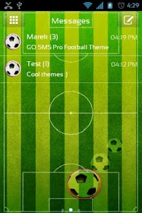GO SMS Pro Football Theme - screenshot thumbnail