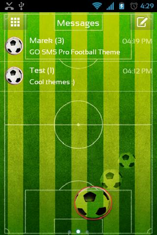 GO SMS Pro Football Theme - screenshot