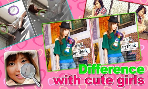 Cute Girls Find the Difference