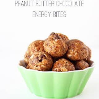 Peanut Butter Chocolate Energy Bites.