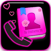 GO CONTACTS Neon Hearts Theme