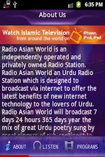 Radio Asian World- screenshot thumbnail