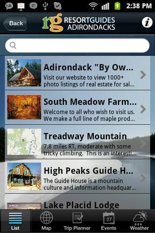 Adirondacks Guide - screenshot