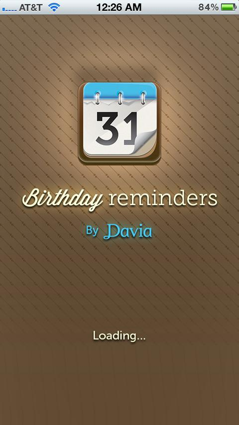 Birthday Calendar by Davia - screenshot