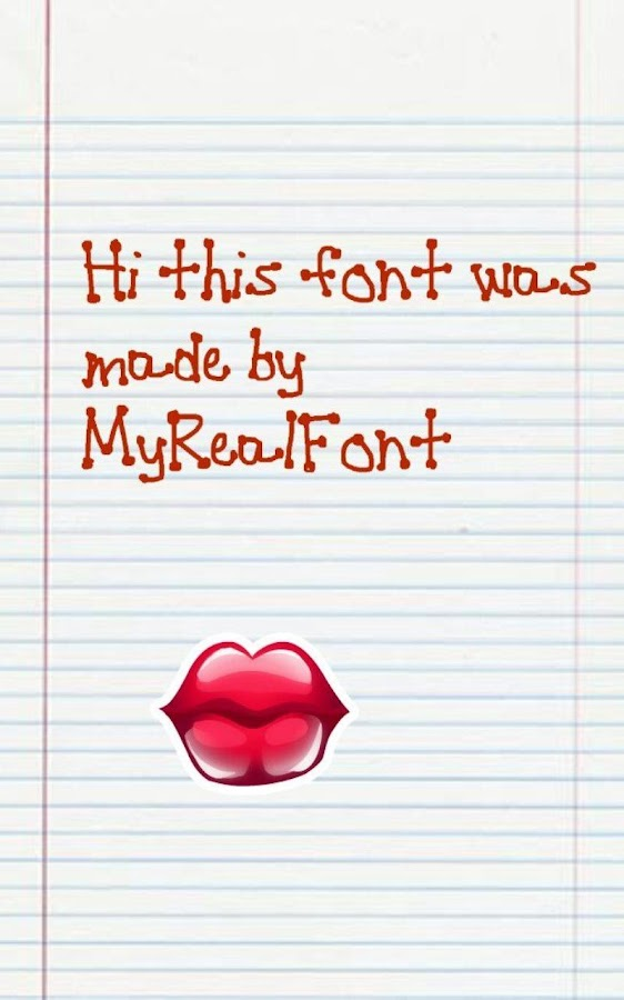 MyRealFont Lite-Make Your Font - screenshot