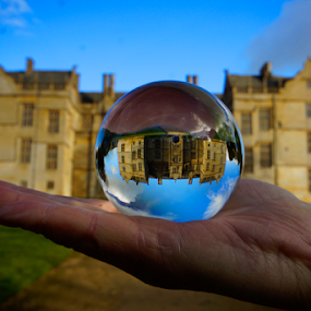 Montacute House 2  by Shaun White - Artistic Objects Glass ( somerset, crystal ball, montacute, house, refraction )