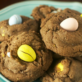 Chocolate Mini Cadbury Egg Cookies.