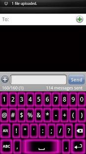 Pink Glow Keyboard Skin - screenshot thumbnail