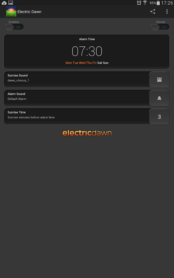 Electric Dawn - Alarm Clock - screenshot