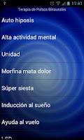Screenshot of Terapia Ritmos Binaurales