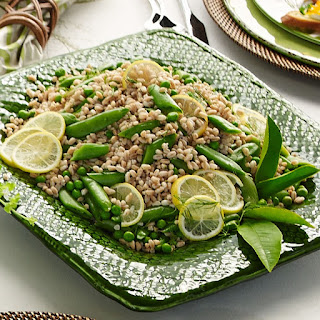 Farro Salad with Sugar Snaps, Spring Peas and Meyer Lemon