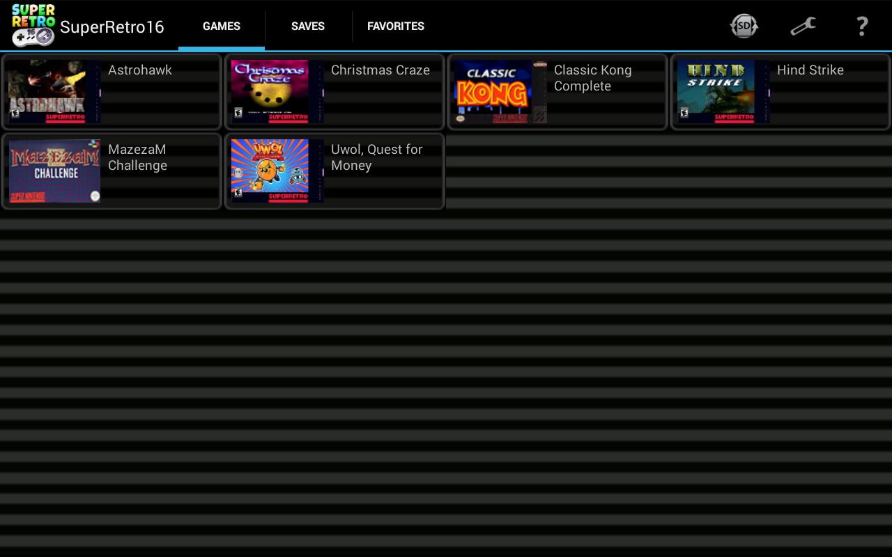 SuperRetro16 ( SNES Emulator ) screenshots