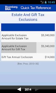 BNA Quick Tax Reference - screenshot thumbnail