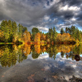 Round Lake - Camas, WA by Gary Piazza - Landscapes Waterscapes (  )