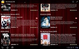 Screenshot of MovieBrowser UPnP