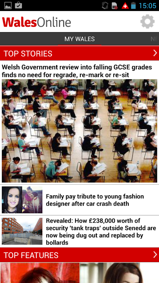 Wales Online App- screenshot