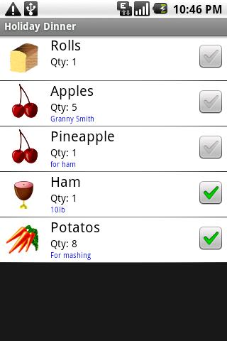 Grocery List - screenshot