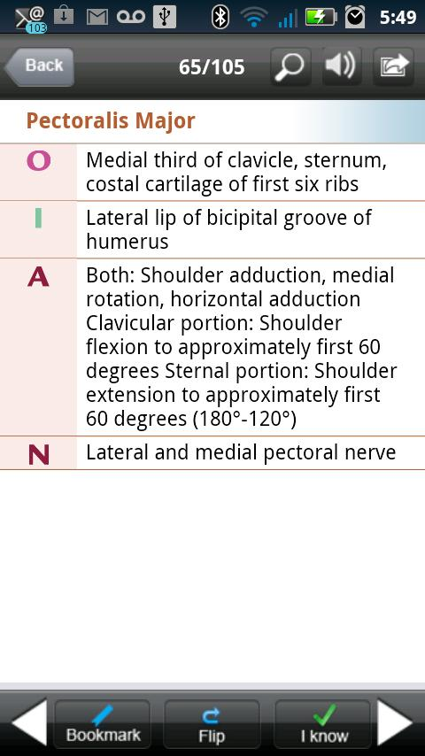 Kinesiology Flash Cards- screenshot