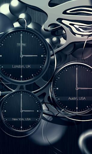 Black clock live wallpaper PRO