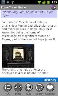 Rome & Lazio, Italy FREE Guide- screenshot thumbnail