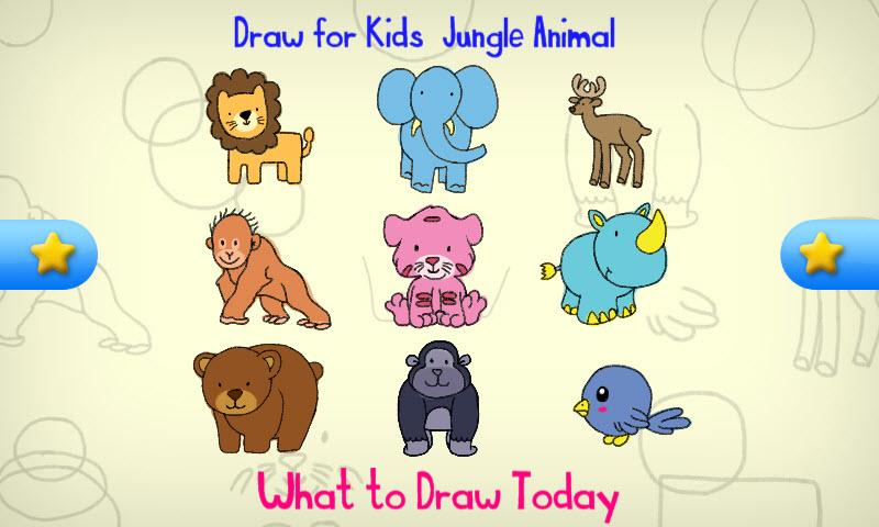 draw for kids jungle animal   android apps on google play