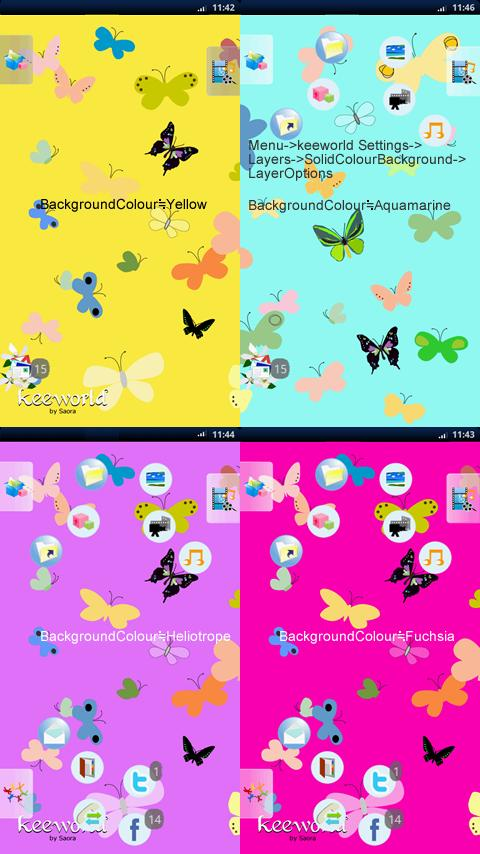 keeworld Theme:Swallowtail- screenshot