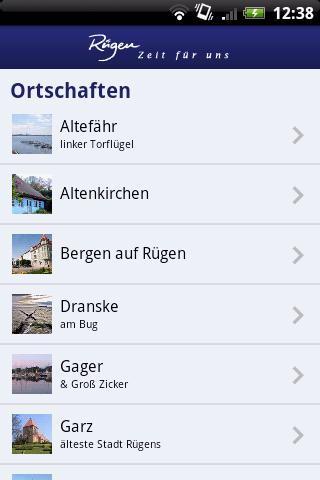 Rügen-App - screenshot