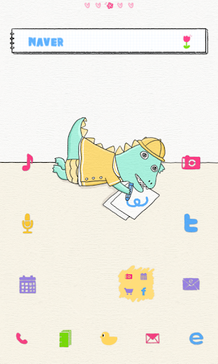 赤ちゃん恐竜の溶融クレヨンドドルランチャのテーマ