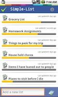 Screenshot of Simple List Free