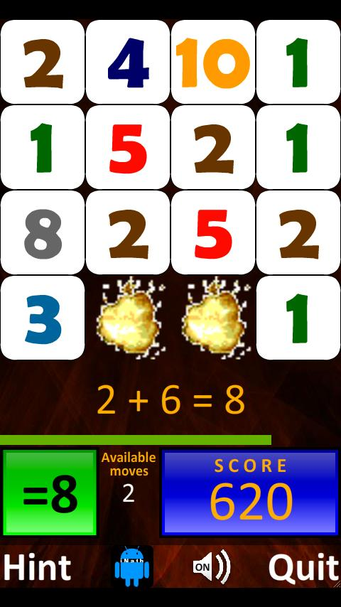 Droid Math 4 Kids Free - screenshot