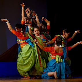 Dance for Joy by Subhasis Ghosh - News & Events Entertainment ( indian culture, enjoyment, color, woman, india, dance, culture, entertainment )