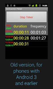 Contraction Timer Donate - screenshot thumbnail