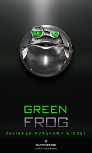 Poweramp Widget Green Frog Screenshot