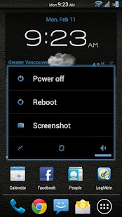 Leather Blue CM11/AOKP Theme - screenshot thumbnail