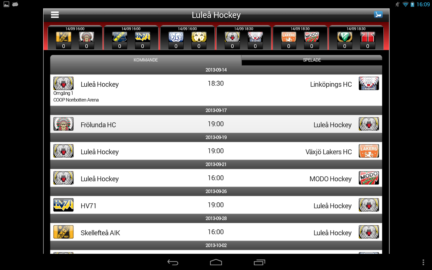 Luleå Hockey - screenshot