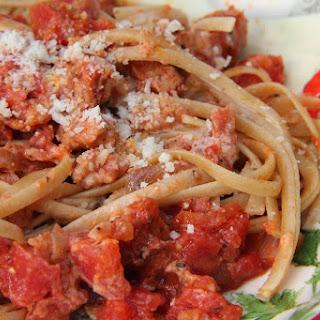 Creamy Tomato and Sausage Fettuccine