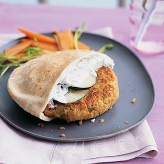 Greek-Style Quinoa Burgers.