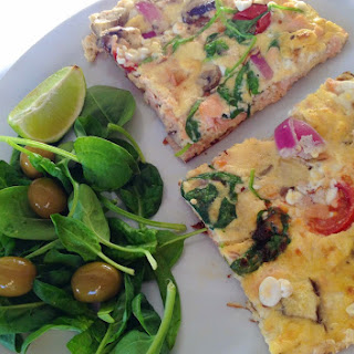 Salmon And Cottage Cheese Omelette/frittata .