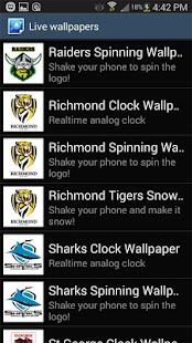 Canberra Raiders Spinning Logo- screenshot thumbnail