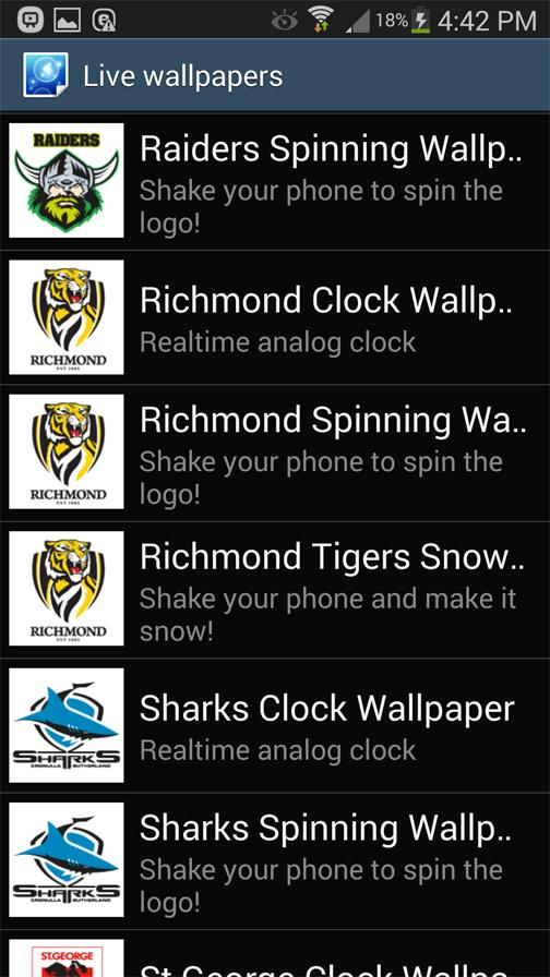 Canberra Raiders Spinning Logo- screenshot