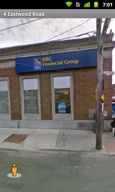 RBC ATM and Branch Locations - screenshot