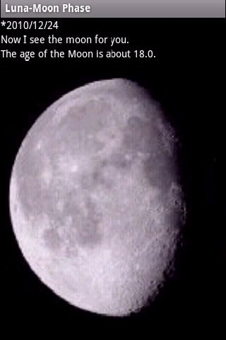 Luna-Moon phase - screenshot